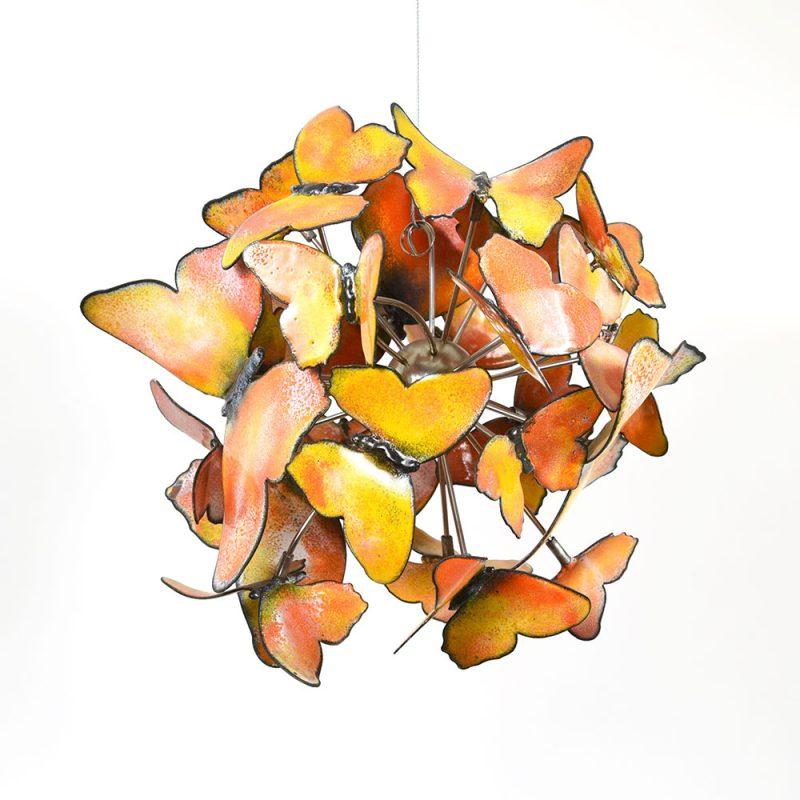 Frofalle butterflies is 24 yellow and orange enameled steel butterflies - Christie Hackler