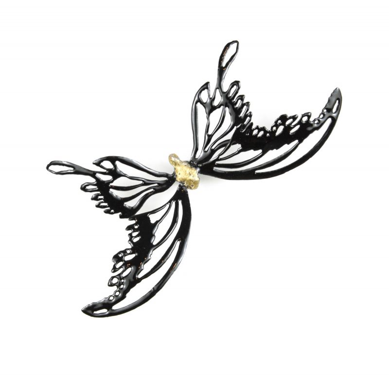 MINA BUTTERFLIES Color Black with Gold Body 2, Chrisite Hackler