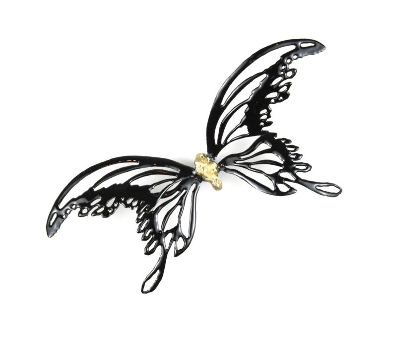MINA BUTTERFLIES Color Black with Gold Body, Chrisite Hackler