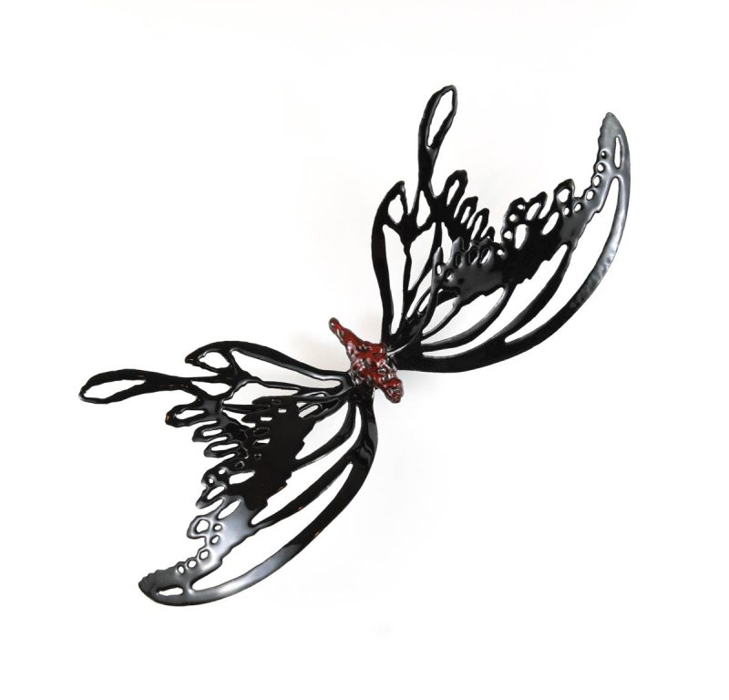 MINA BUTTERFLIES Color Black with Red Body 2, Chrisite Hackler