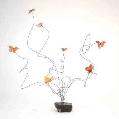 emBARK Butterfly Sculptures - Color Orange - Christie Hackler