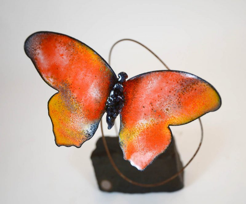 emBARK Butterfly Sculptures close up - Color orange - Christie Hackler